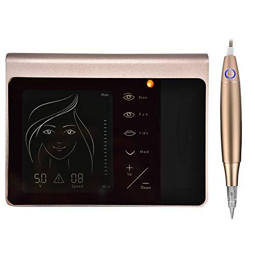 Tattoo Touchscreen Bedienfeld Semi Permanent Eyebrow Eyeliner Lippe, professionelle digitale Permanent Make up Maschine Touchscreen Stift Nadel Tattoo Ausrüstungsset(EU)