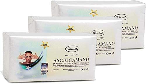 Asciugamani Monouso Professionale in Carta a Secco Goffrata 3 Confezioni da 60pz Asciugamano Estetica e Parrucchiere 40x70cm