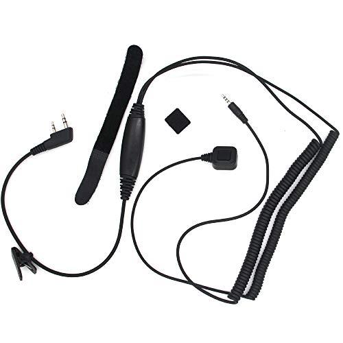 Huante - Cable de conexión especial para auriculares Talkie-Walkie radio bidireccional para Kenwood Uv-5R