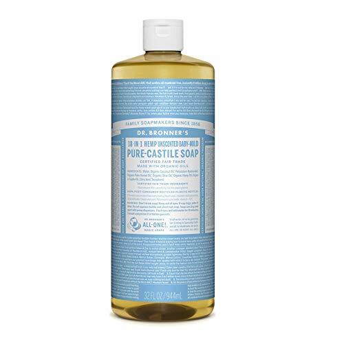 Dr. Bronner's Jabón líquido orgánico sin perfume para bebé