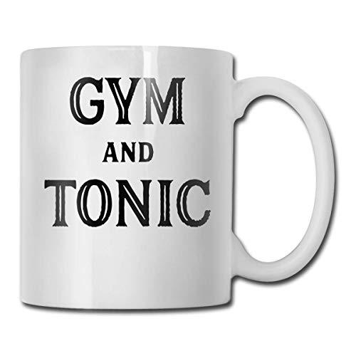 N\A Gym and Tonic Funny Coffee Mug Tea Cup, Ideas novedosas para Regalos de cumpleaños para Hombres, Mujeres, Amigos