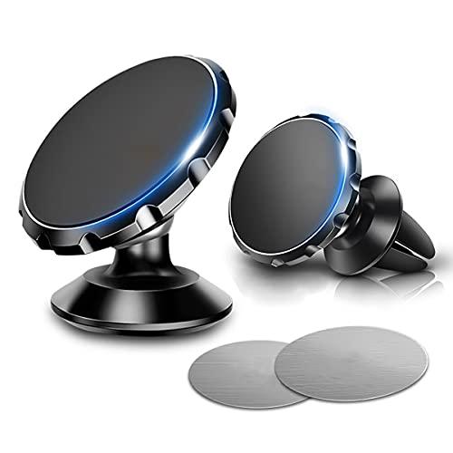 Soporte para teléfono para automóvil para montaje soporte para teléfono de tablero giratorio de 360 grados para soporte de montaje de clip para automóvil para teléfonos inteligentes de 4 a 7 pulgadas