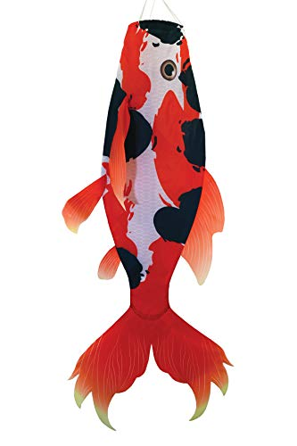 "Breeze In The Windsack Fish 48 Inches 48"" Red Koi"
