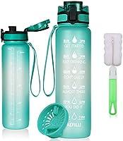 flintronic 1000 ml Lekvrije Beste Sport Waterfles Lek Proof, BPA Gratis Tritan Plastic Milieuvriendelijke Drinkflessen...