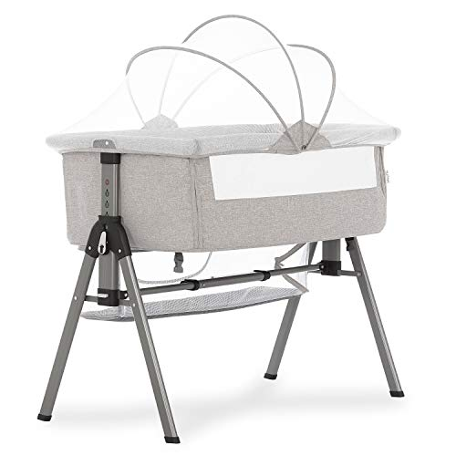 41L2abqpP3L - Baby Bassinet RONBEI Bedside Sleeper Adjustable Portable Bed