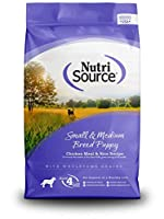 NutriSouce Natural Chicken Rice Formula Breed Dry Puppy Small Medium Food 1.5lbs