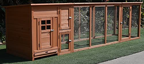 Fiveberry Magbean 114' Large Solid Wood Chicken Coop...