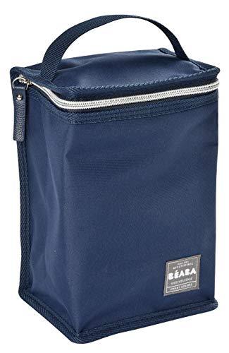 Beaba - Bolsa de comida isotérmica, color azul y plateado