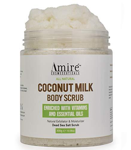 Coconut Milk Scrub For Body And Face. 100% Pure Dead Sea Salt...