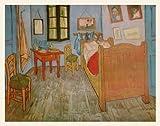 Vincent Van Gogh - Póster de la película El dormitorio en Arles (marco de madera, 56 x 71,2 cm)