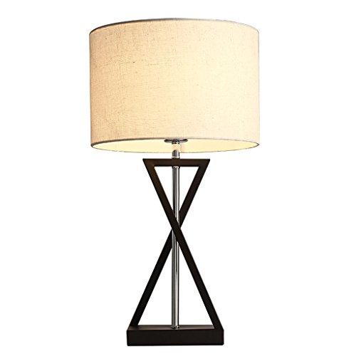 Hochwertige Tischlampe Modernes einfaches Nachttisch Lampenstoff Lampenschirm Eisen Restaurant Wohnzimmer Tischlampe E27,55 * 30CM Energie sparen