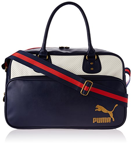 PUMA, Borsa a tracolla Originals Grip Bag, Blu (Peacoat-White)