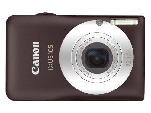 Canon IXUS 105 Digitalkamera (12 MP, 4-fach opt. Zoom, 6,9cm (2,7 Zoll) Display, bildstabilisiert) braun