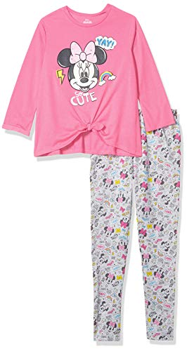 Disney Minnie Mouse Toddler Girls Long Sleeve Shirt & Legging Set (Pink, 3T)