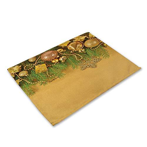Hey shop - Mantel de mesa para decoración de Navidad, 42 x 32 cm