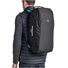 Versatile hybrid of a backpack & cargo bag Three-way harness for easy transport Can be carried as a duffle bag, shoulder bag or backpack Dual compartments Lockable zipper