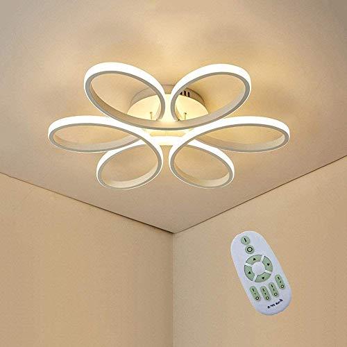 Plafoniera LED da soffitto, Creativa Moderna Forma di Fiore Lampada da Soffitto, Alluminio Bianco Corpo Lampada, Acrilico Paralume, 3000K~6000K Dimmerabile 85W 6000lm Φ58 * H10cm