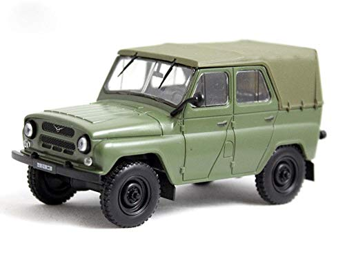 UAZ-469 USSR Soviet 4-Door SUV Off-Road Military Car 1972 Year 1/43 Scale Diecast Collectible Model Car