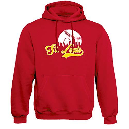 St. Louis Baseball Skyline Hoodie Sweatshirt (XL) Red