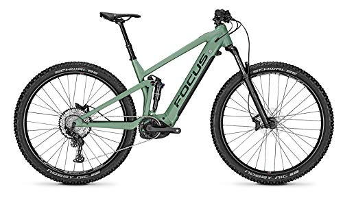 Focus Thron² 6.8 Bosch Trail & Touren Fullsuspension Elektro Mountain Bike 2020 (M/44cm, Mineral Green)