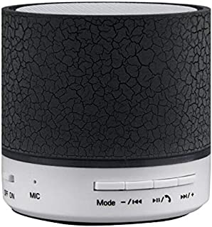 ZYZRYP Portable Wireless Mini LED A9 Bluetooth Speaker Sound Box Subwoofer Speakers For Iphone Support TF SD Card PK BTS06 Q9 A9 S28 A5 (Color : Black)