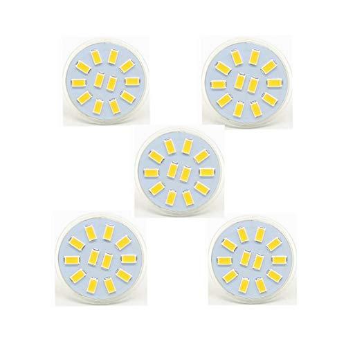Grossartig GU4 Bi-Pin Sockel 4 W MR11 LED-Leuchtmittel, 12 V 24 V 30 W Halogen-Ersatz, 12 LED 5730, AC/DC 9-30 V, 5 Stück warmweiß