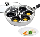 Egg Poacher Pan - Stainless Steel Poached Egg Cooker – Perfect Poached Egg Maker – Induction...