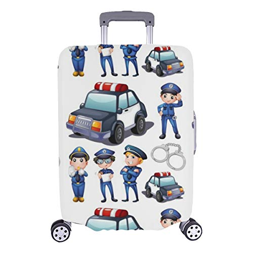 Luggage Hard Cover Tall Policeman Serious Violent Durable Washable Protecor Cover Fits 28.5 X 20.5 Inch Best Luggage Cover Luggage Cover Set Luggage Case Protection Cover
