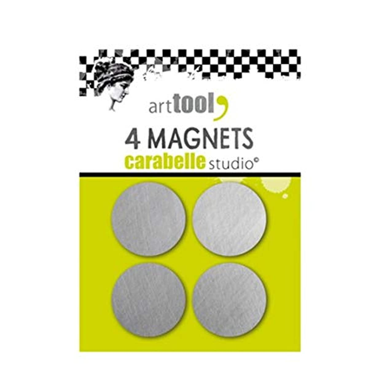 Carabelle Studios Set of 4 Thin Flat Magnets for Use with Various Platforms, Secure Artwork in Place for Perfect Craft Project Stamps, One Size