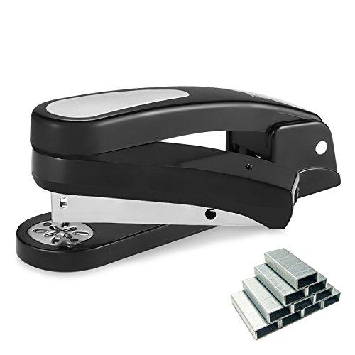 Stapler, OG-EVKIN 360 Degree Rotatable Staplers, 20 Sheet Capacity with 1000 Staples, Black