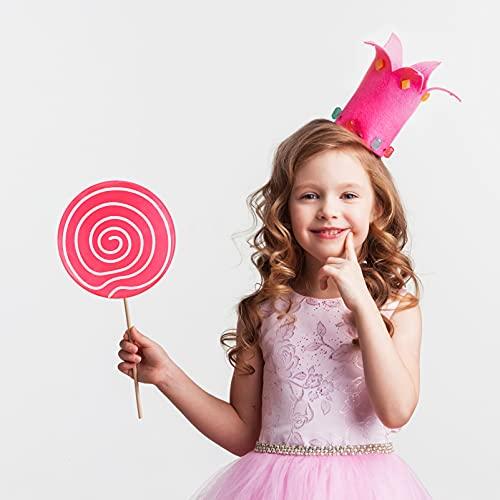 SOIMISS Piruleta Prop Grandes Adornos de Caramelo Rosa Falsa Comida Festiva Foto Props Carnaval Cosplay Boda Cumpleaños Juguete Fiesta Suministros Niños Aldult