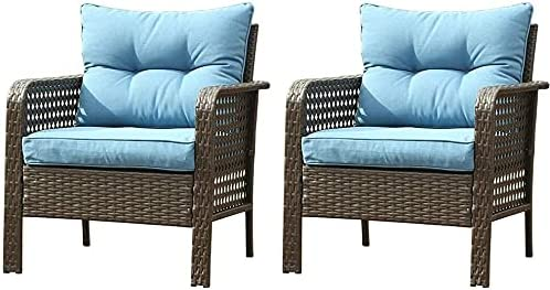 sunseen 2pcs Outdoor Today's only Rattan Conversation Cash special price Single F Chair