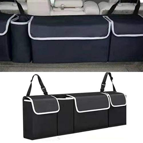 Bazahy Backseat SUV Trunk Organizer,Car Back Seat Hanging Storage Box Bag Organizer - Use It As A Back Seat Storage Car Cargo Organizer and Free Your Trunk Floor, Best for Vehicle,Auto (Car Organizer)