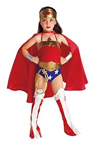 Lemonkid Disfraz de Supergirl Mujer Maravilla para Halloween y Cosplay