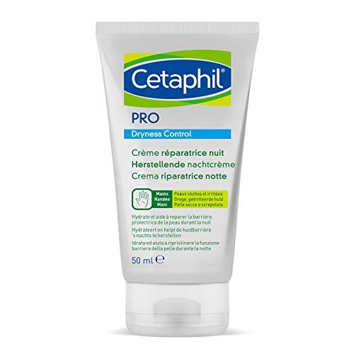 Cetaphil PRO Dryness Control, Crema Riparatrice Mani Notte, Protezione Quotidiana per Pelle Sensibile ed Irritata, Formato 50 ml