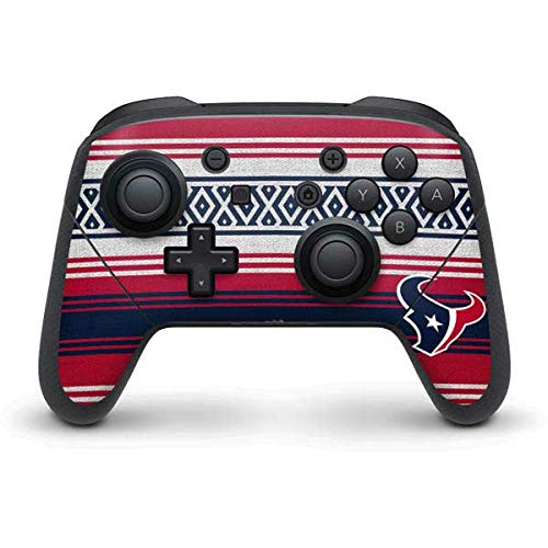 Skinit Decal Gaming Skin Compatible with Nintendo Switch Pro Controller - Officially Licensed NFL Houston Texans Trailblazer Design