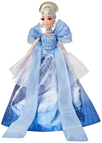 Disney Prinzessin Style Serie Weihnachtsedition Cinderella, Sammelmodepuppe Weihnachten 2020 mit Accessoires, Spielzeug für Mädchen ab 6 Jahren