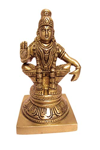 Indian Decor & Attire Aesthetic DecorsAyyappa Sitting Carved