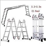 JF-XUAN Escalera, multi-función escalera del hogar escalera plegable, aleación de aluminio Engrosamiento telescópica escalera escalera de Ingeniería Materiales de construcción