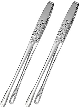 BHJD Food Tweezers Stainless Steel Food Tongs Japanese Style Barbecue Clamp Kitchen Serving product image