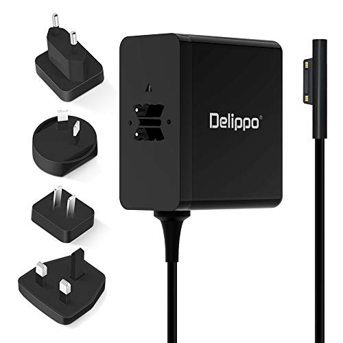 Delippo 36W Power Supply for Surface Pro 3 Pro 4 Charger 12V 2.58A Adapter Replacement for Microsoft Surface Pro 3 Pro 4 Surface Go Surface Laptop with Extra long 6FT Power Cord