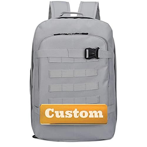Nome personalizzato Zaino leggero per bambini per uomo Escursionismo Daypack 30L Classic Basic Travel Zaino (Color : Grey, Size : One size)