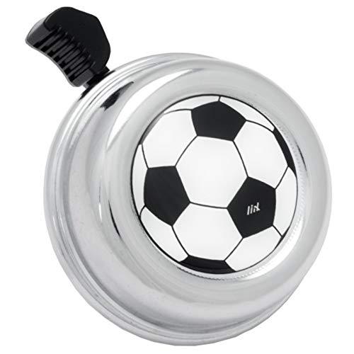 Liix Fahrradklingel Colour Bell, Fußball Chrom, LiixBell