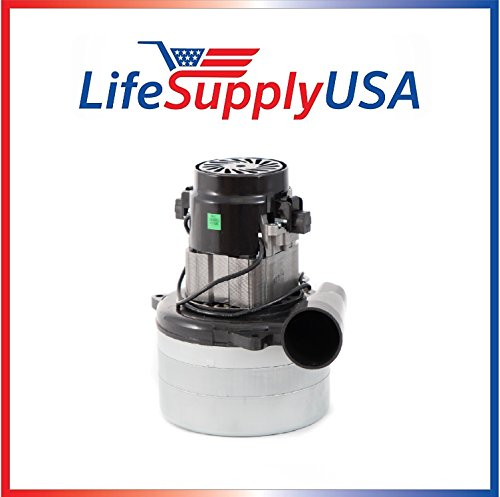 LifeSupplyUSA Central Vacuum Boat Lift 3 Stage Motor 120V, 1200 Watt High Suction Tangential Bypass Discharge Blower Horn 5.7