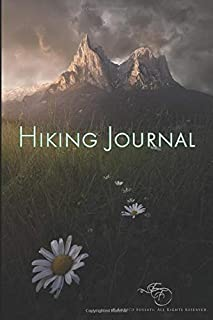 """Hiking Journal - Enrico Fossati: The Dark Is Rising Trail Log Book and Hiker's Journal in a Handy 6"""" x 9"""" Travel Size"""