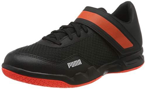 PUMA Rise XT 4, Zapatos de Futsal para Hombre, Black-Silver-Nrgy Red, 39 EU