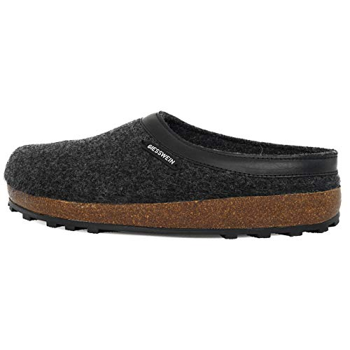 Giesswein Chamerau, Pantoffeln Unisex-Erwachsene, Grau, 45 EU