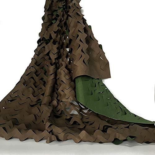Ombre tissu pour le filet de camouflage retardateur de flamme filet de protection solaire en plein air CS rouge décoration Scénica - couleur vert marron 6x8m