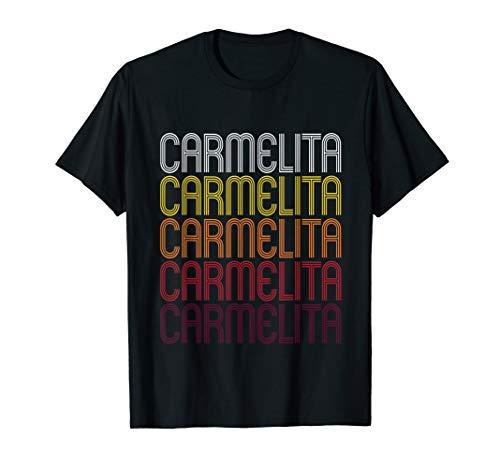 Carmelita Retro Wordmark Pattern - Vintage Style T-shirt