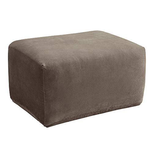 Top ottoman covers sure fit stretch leather for 2021
